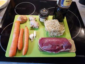 ingrédient recette de wok