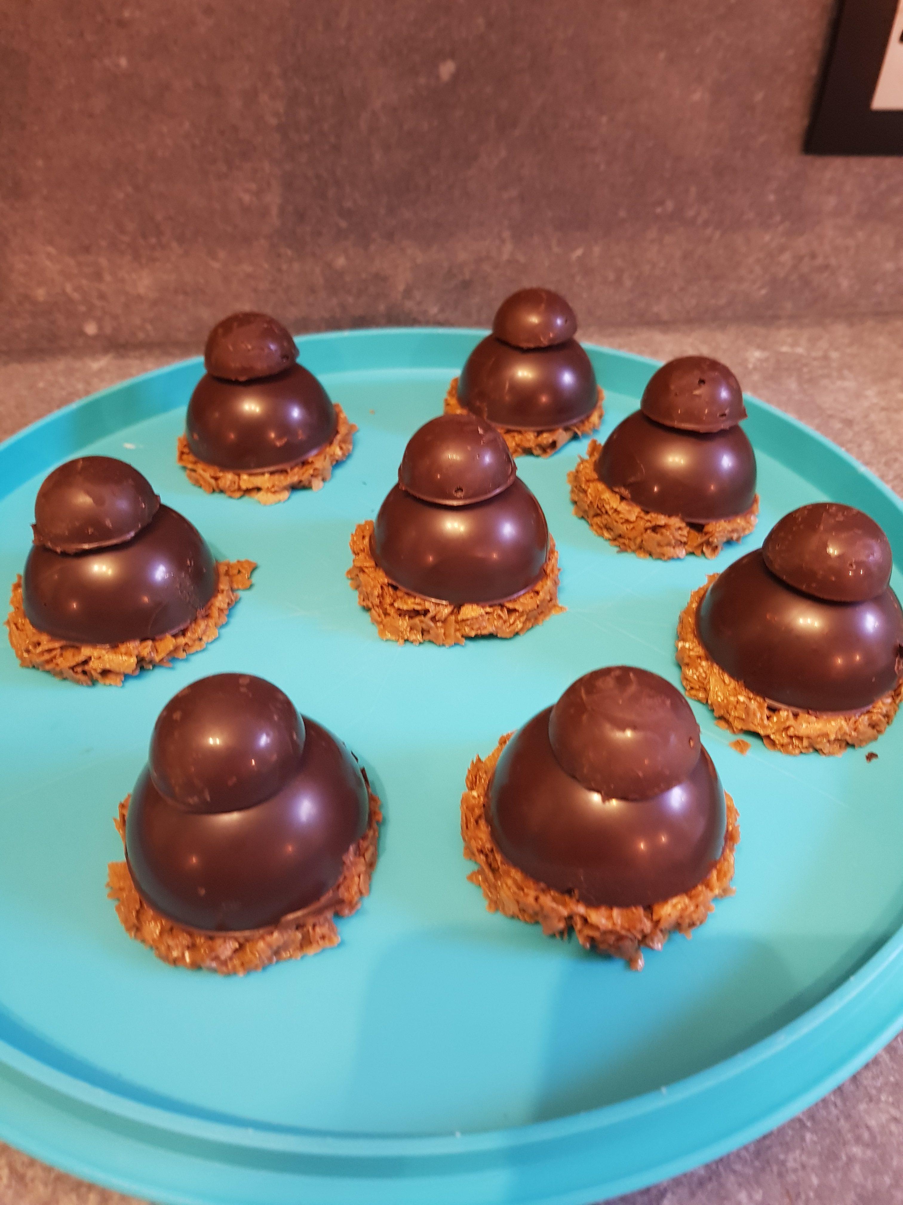 Dôme mousse chocolat cœur caramel